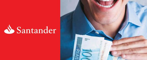 simular um empréstimo no banco Santander